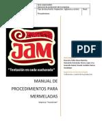 Manual de Procedimientos Para Mermeladas. Rev