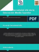 Acuerdo Secretarial 656 de La Educación Media Superior