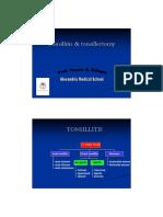 Tonsillitis & Tonsillectomy (Prof. Yassin Soliman)