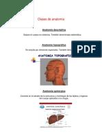 Clases de Anatomía