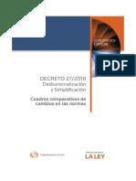 Decreto P.E.N 27-2018 - Cuadro Comparativo Cambio de Normas.