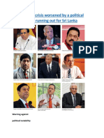 An economic crisis worsened by a political crisis Time is running out for Sri Lanka.docx