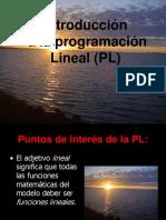 Parte i.- Antecedentes Programación Lineal