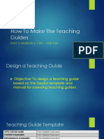 How to Make the Teaching Guides June 1-3