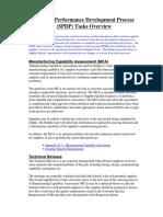 Spdp Tasks Overview