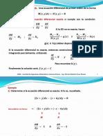 7 Ecuaciones exactas