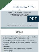 APA Manual de Estilo APA