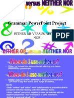Grammar PowerPoint Neither Nor Either Or