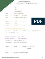 Area Measurement - Lenght Measurement