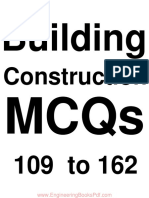 Building Construction MCQs 109 to 162
