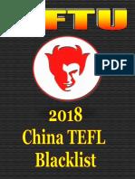 2018 CFTU Blacklist of China Schools, TEFL Recruiters & Visa Agents