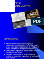 1 Analytical Photogrammetry Lecture 1