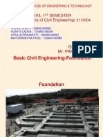 Basic Civil Fondation by Civil1st Sem