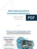 2016 Boiler Safety Checklist and Preventative Maintenance