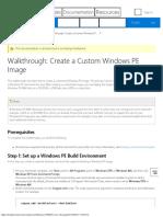 Walkthrough Create a Custom Windows PE Image