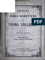 Primary Bible Questions for Young Children by S Root