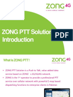 Zong PTT Solution- For Clients
