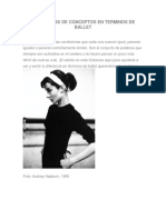 Diferencias de Conceptos en Terminos de Ballet