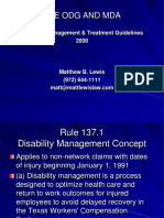 Matt Lewis Law Dallas Texas - Disability Management & Treatment Guidelines