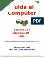 Guida al Computer - Lezione 191 - Windows 10 - App