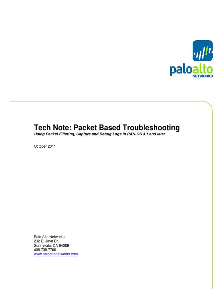 Tech Note - Packet Based Debugging | Firewall (Computing