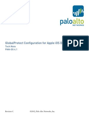 GlobalProtect Config Apple IOS RevC | Public Key Certificate