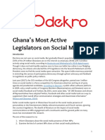 Ghana most active legislators on social media