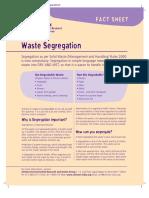 Chintan Waste Segregation Fact Sheet