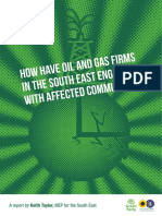 How have oil and gas firms in the South East engaged with affected communities?