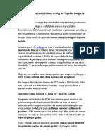 Diversas Dicas de Como Colocar O Blog No Topo Do Google (# 19 Dicas)