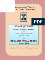Rate Analysis_ODRs-Rural Rd_Part - II