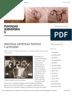 Prácticas artísticas textiles y activismo | puntadas subversivas