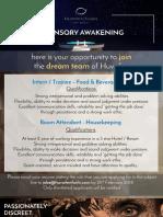 JOB Adv - Room Attendant, & F&B Intern