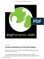 PT Seminar-Workshop on Functional Taping – Ang Therapist