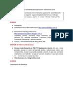 Agenda de Actividades de Organización Institucional 2018