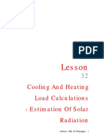 Cooling and Heating Load Calculations - R&AC Lecture 32