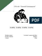 Title page PU