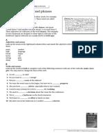 Collocates and Fixed Phrases