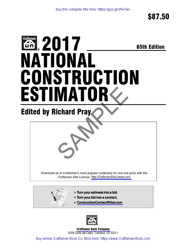 National electrical estimator free download
