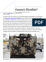 Who Are Yemen's Houthis