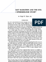 Ultraviolet Radiation and the Eye- An Epidemiologic Study