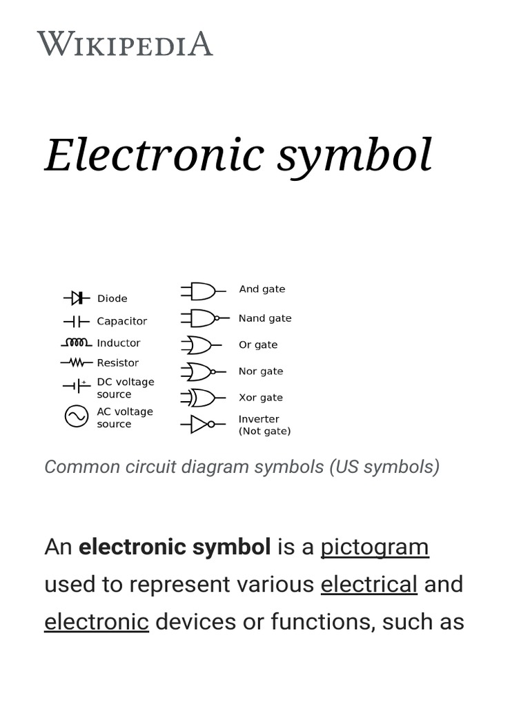 Electronic Symbol W Field Effect Transistor Electronics