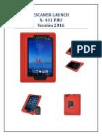 Ficha Técnica x431 Pro