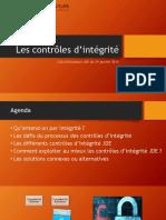 Les contrôles d intégrité. Club Utilisateurs JDE du 29 janvier 2015.pdf