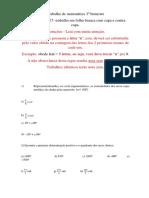 Trabalho de Matemática 3º Bimestre