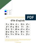 Colores en k'Iche' y Letras Goticas