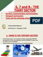 geografia sector terciario English
