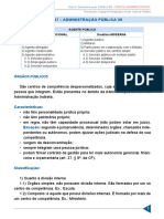 Aula 07 - Administração Pública VII - Agente Público, Trad. x Modernid. e Órgãos