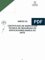 Certificado de ITSE Básica Ex Ante