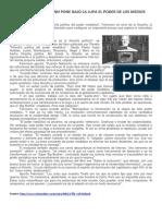 José Pablo Feinmann Pone Bajo La Lupa El Poder de Los Medios